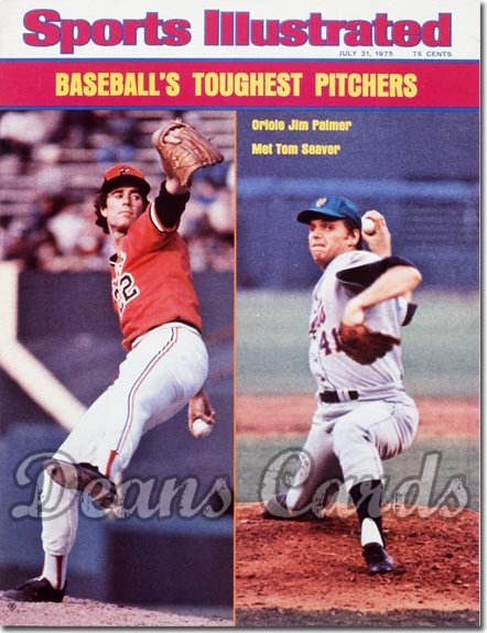 1975 Sports Illustrated - With Label   July 21  -  Jim Palmer (Orioles) / Tom Seaver (Mets)