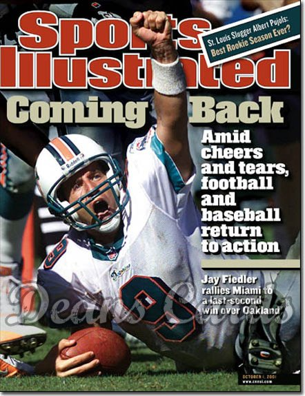 2001 Sports Illustrated - With Label   October 1  -  Jay Fiedler Miami Dolphins