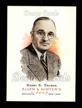 2007 Topps Allen & Ginter #298  Harry S. Truman