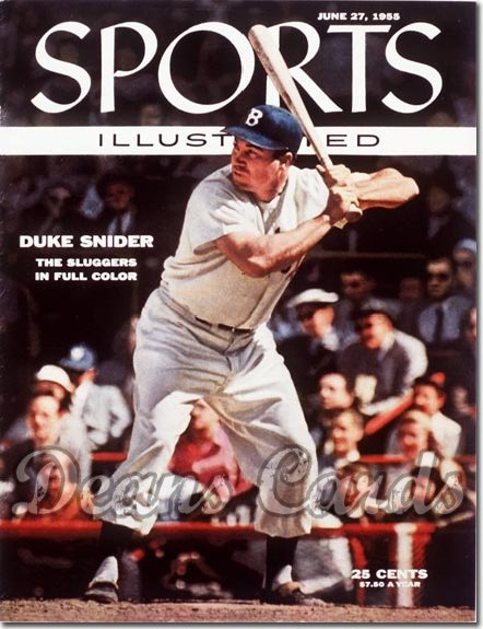 1955 Sports Illustrated - With Label   June 27  -  Duke Snider Brooklyn