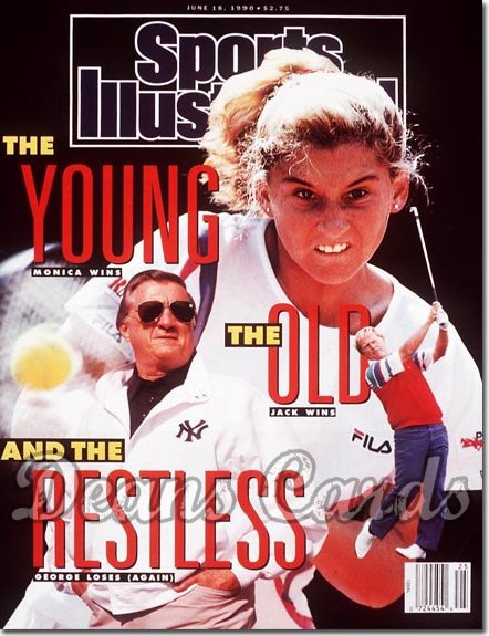1990 Sports Illustrated - With Label   June 18  -  George Steinbrenner (Yankees) Jack Nicklaus & Monica Seles