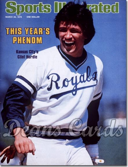 1978 Sports Illustrated - With Label   March 20  -  Clint Hurdle (Kansas City Royals)