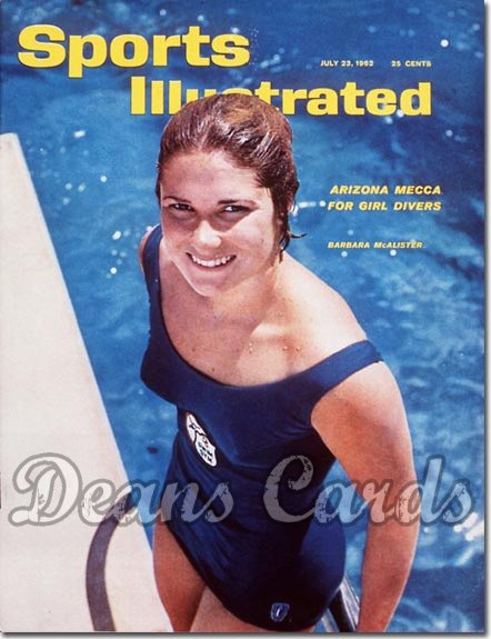 1962 Sports Illustrated - With Label   July 23  -  Barbara McAlister (Diving)