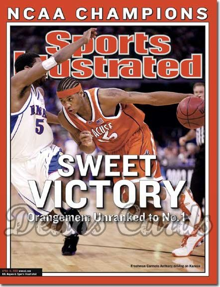 2003 Sports Illustrated - With Label   April 14  -  Carmelo Anthony (Syracuse Orangemen)