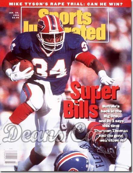 1992 Sports Illustrated - With Label   January 20  -  Thurman Thomas (Buffalo Bills)