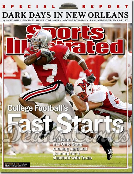 2005 Sports Illustrated - With Label   September 12  -  Ted Ginn Jr Ohio State