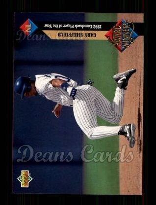 1993 Upper Deck #492   -  Gary Sheffield Award Winners