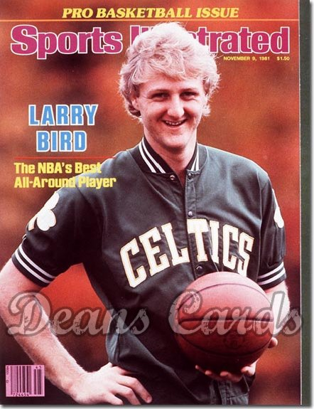 1981 Sports Illustrated - With Label   November 9  -  Larry Bird (Boston)