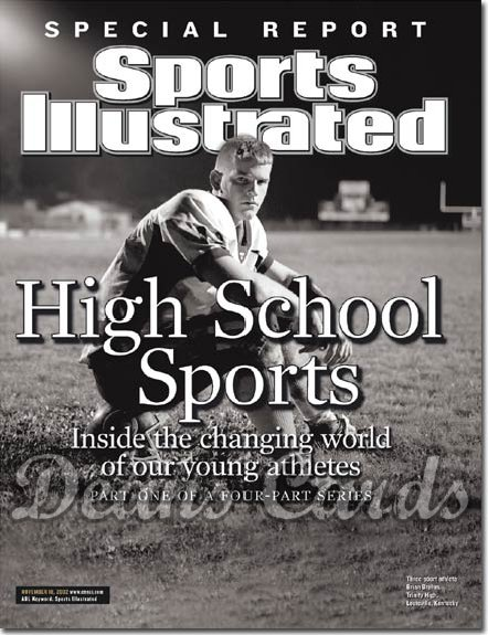 2002 Sports Illustrated - With Label   November 18  -  Brian Brohm Trinity High Shamrocks