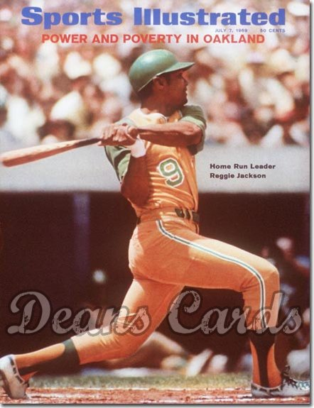1969 Sports Illustrated - With Label   July 7  -  Reggie Jackson (Oakland A's) (1st cover)