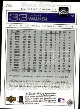 2003 Upper Deck #253  Larry Walker
