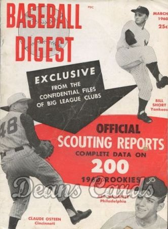 1960 Baseball Digest    March  Scouting Reports