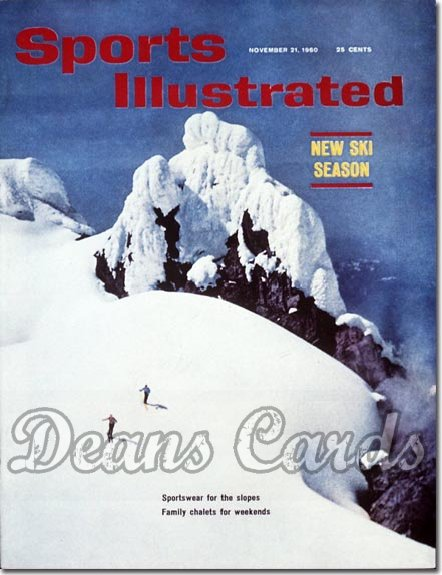 1960 Sports Illustrated - With Label   November 21  -  Skiers