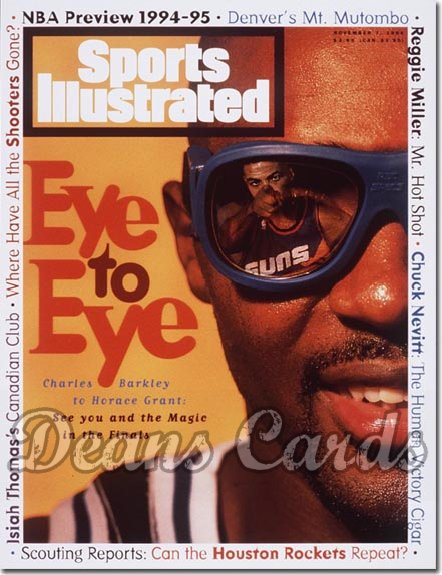 1994 Sports Illustrated - With Label   November 7  -  Horace Grant (Orlando Magic)/Charles Barkley (Phoenix Suns)