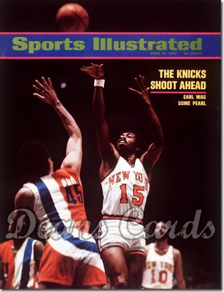 1973 Sports Illustrated - With Label   April 16  -  Earl Monroe (New York Knicks)