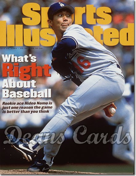 1995 Sports Illustrated - With Label   July 10  -  Hideo Nomo LA Dodgers