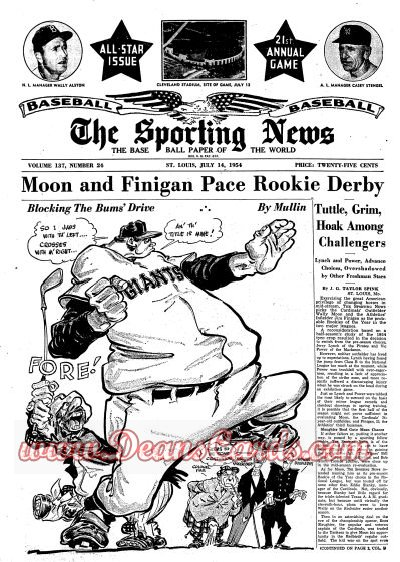 1954 The Sporting News   July 14  - All-Star Game Issue / Dusty Rhodes