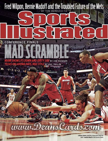 2011 Sports Illustrated - With Label   May 30  -  Lebron James / NBA Eastern Conference Finals