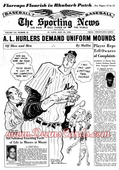 1956 The Sporting News   July 25  - Tigers Sold / Parnell's no-hitter