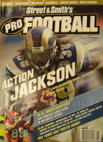 2005 Street & Smith's Pro Football   -  Steven Jackson