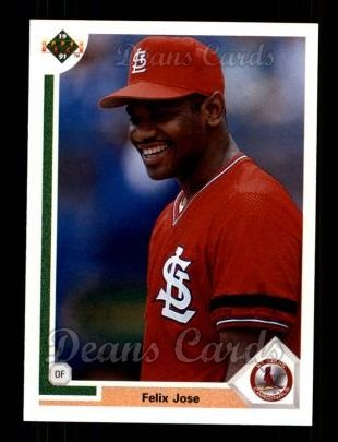 1991 Upper Deck #387  Felix Jose