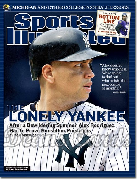 2006 Sports Illustrated - With Label   September 25  -  Alex Rodriguez Arod NY Yankees Sports