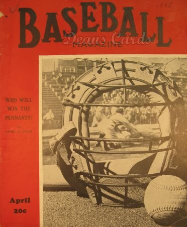 1938 Baseball Magazine    April