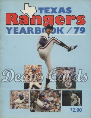 1979 Texas Rangers Yearbook - Jenkins/Oliver/others