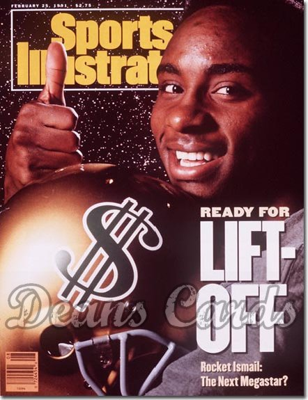 1991 Sports Illustrated - With Label   February 25  -  Raghib Rocket Ismail (Notre Dame Fighting Irish)