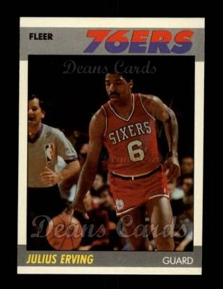 1987 Fleer #35  Julius Erving