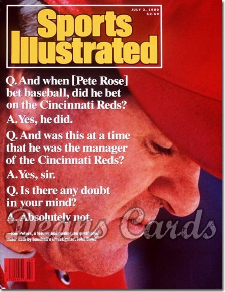 1989 Sports Illustrated - No Label   July 3  -  Pete Rose (Cincinnati Reds)