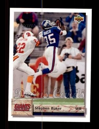 1992 Upper Deck #124  Stephen Baker