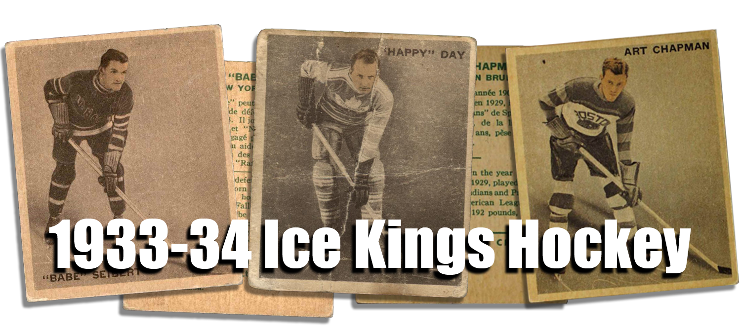 1933-34 Ice Kings Hockey Cards