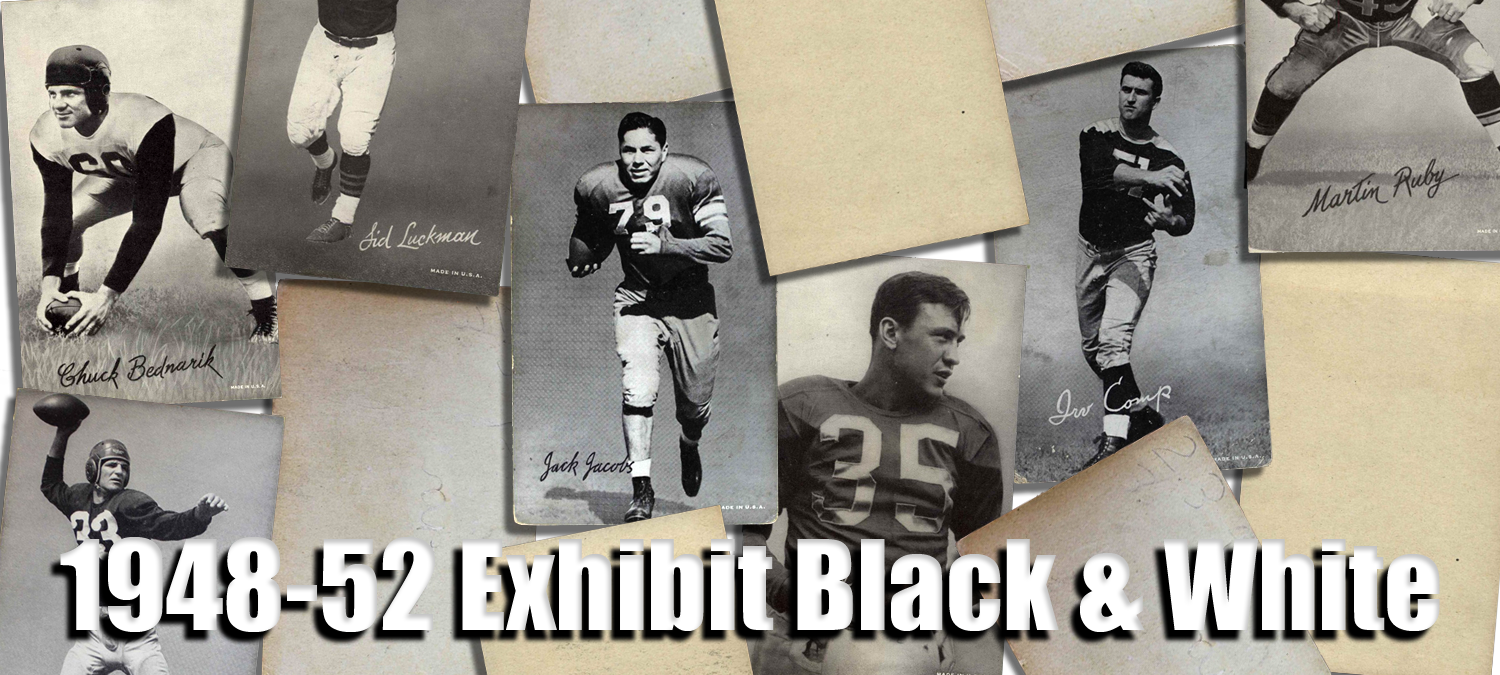 1948-52 Exhibit Black and White Football Cards