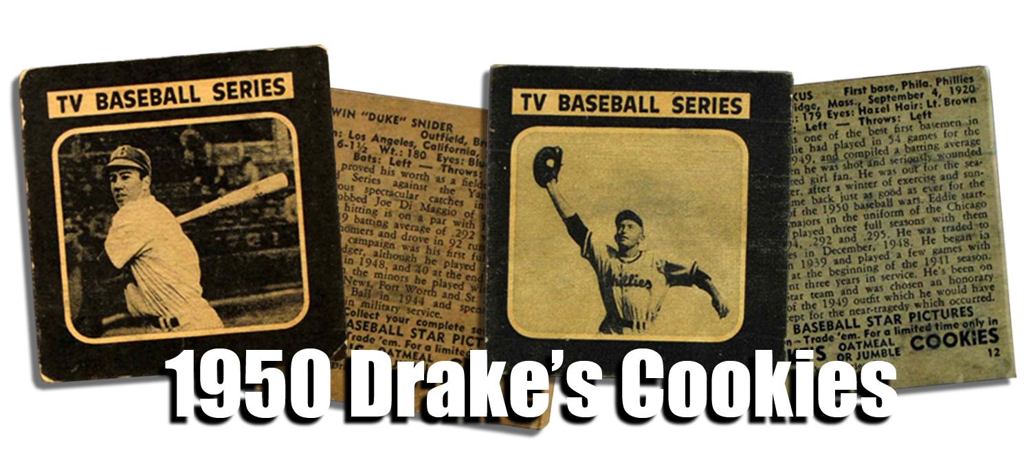1950 Drake's Cookies Baseball Cards