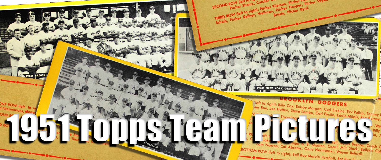 1951 Topps Team Pictures