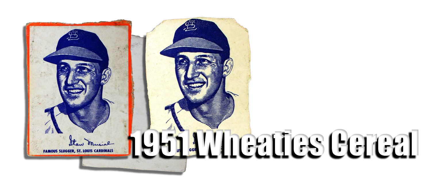 1951 Wheaties Cereal Baseball Cards