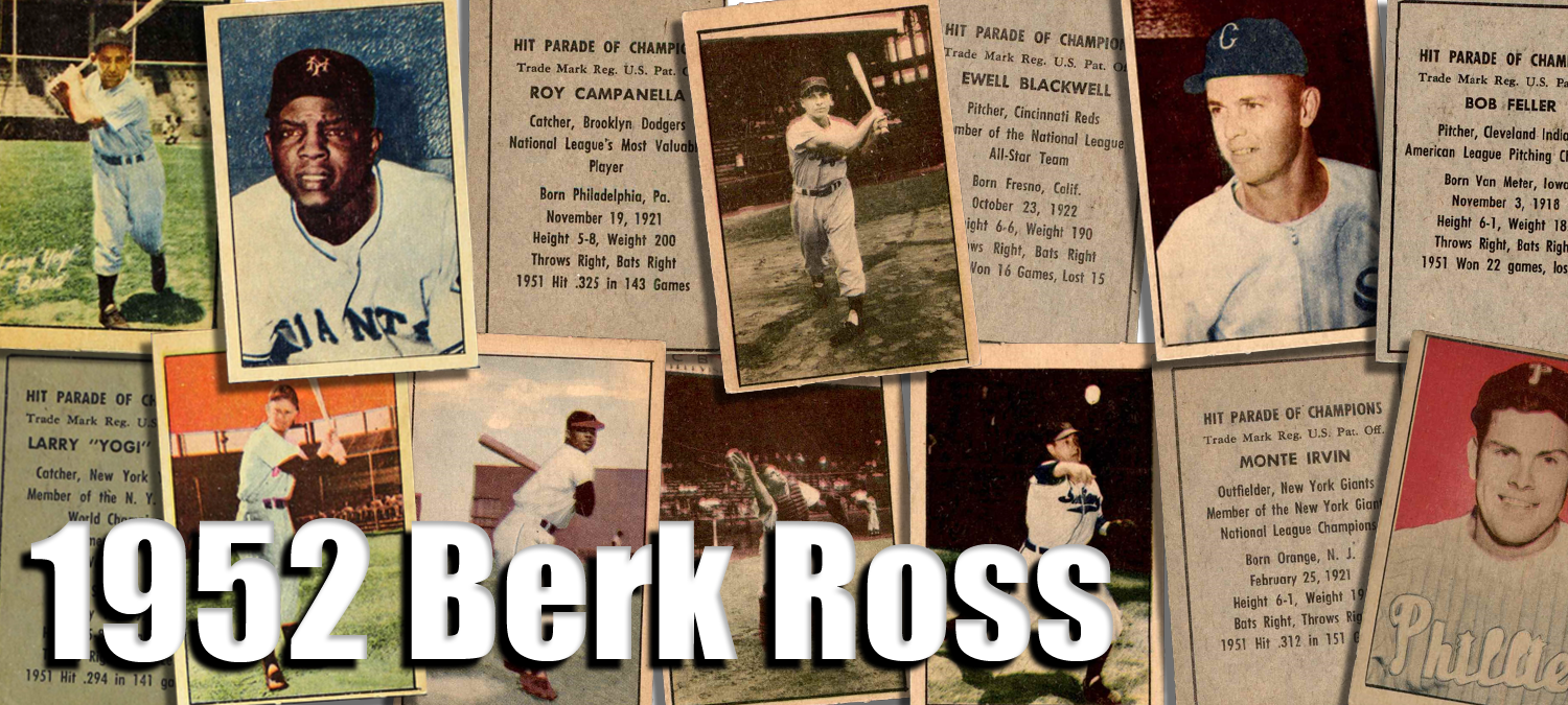 Buy 1952 Berk Ross Baseball Cards Sell 1952 Berk Ross Baseball