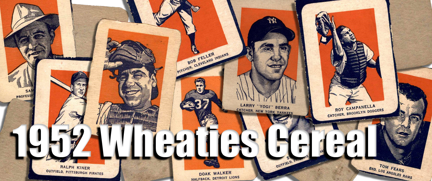 1952 Wheaties Cereal Baseball Cards