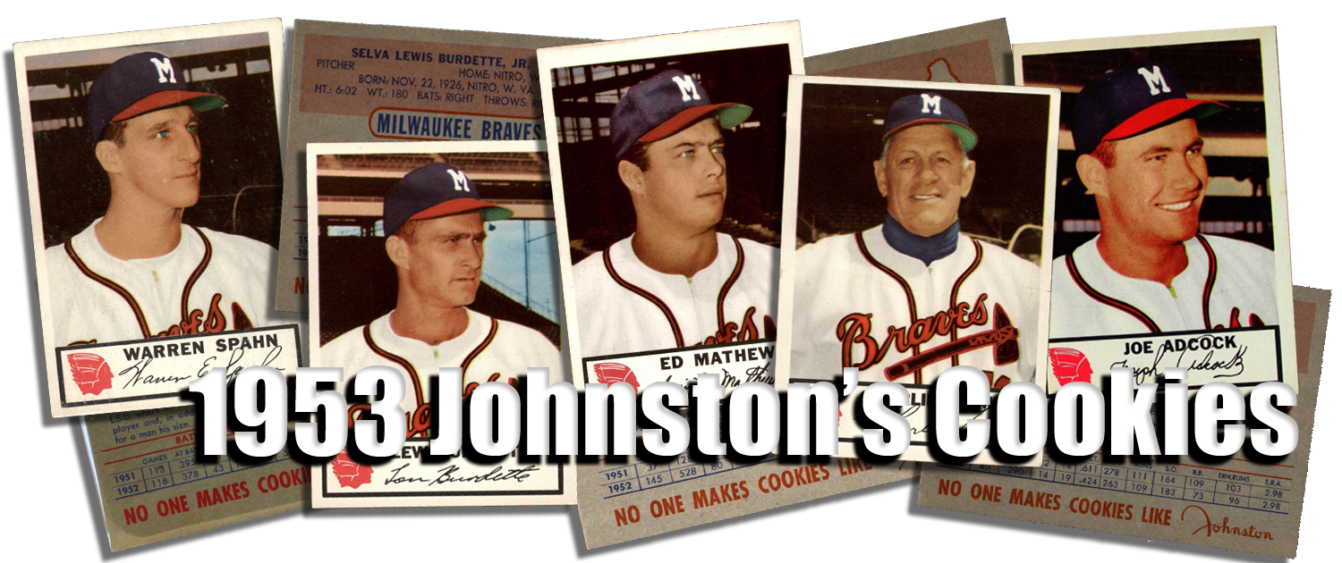 1953 Johnstons Cookies Baseball Cards