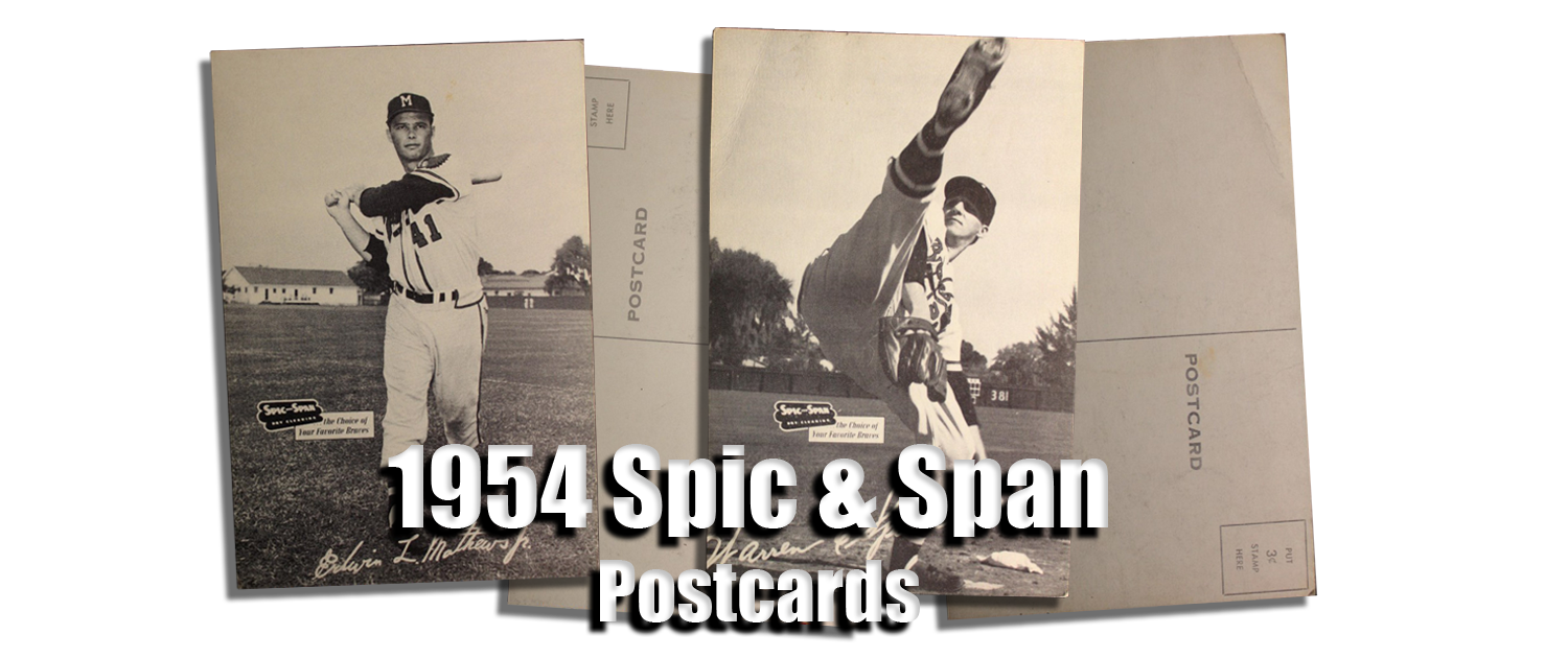 1954 Braves Spic and Span Postcards