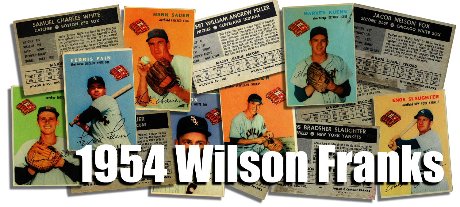 1954 Wilson Franks Baseball Cards