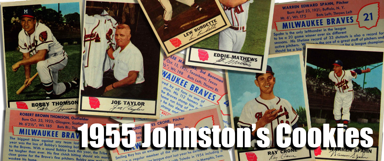 1955 Johnston Cookies Baseball Cards