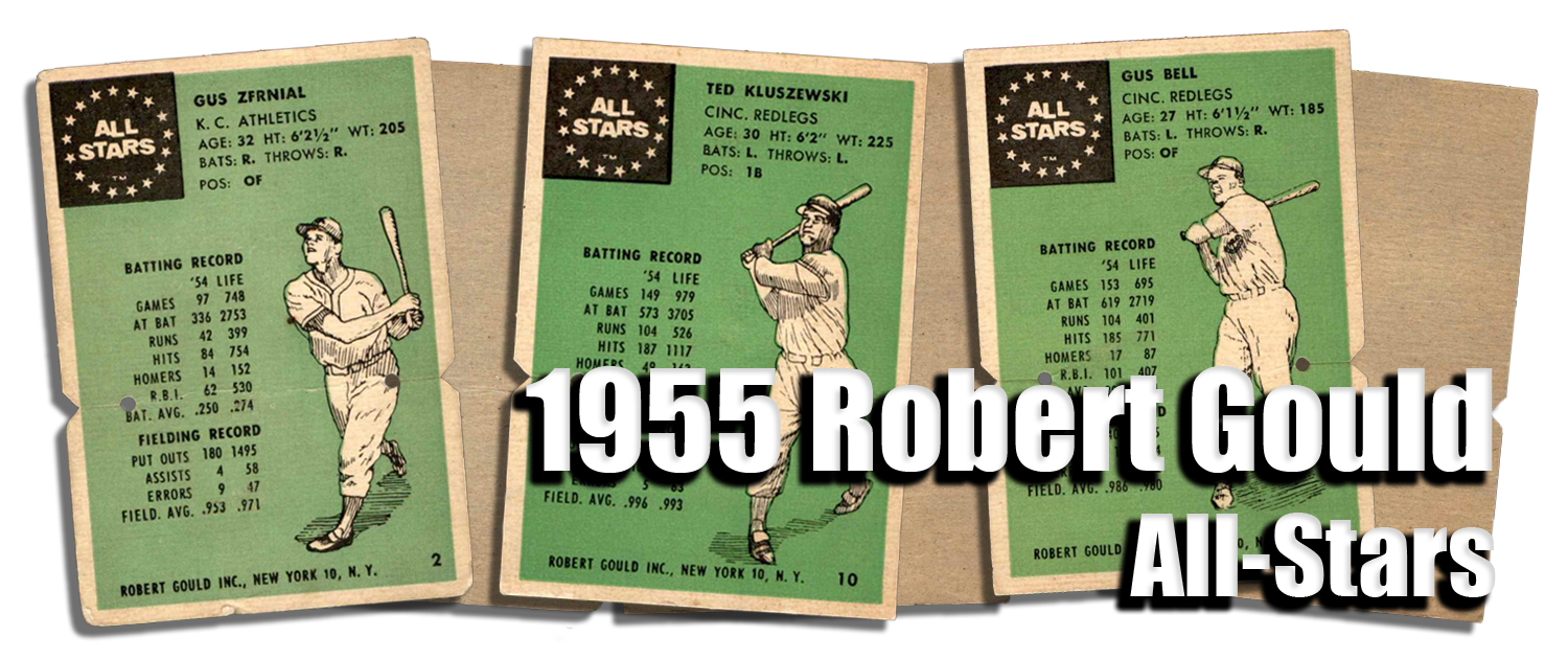 1955 Robert Gould All Stars Baseball Cards