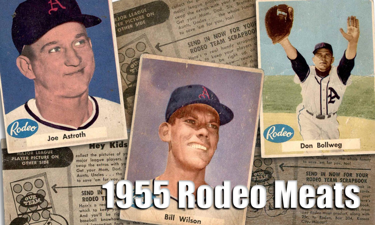 1955 Rodeo Meats Baseball Cards