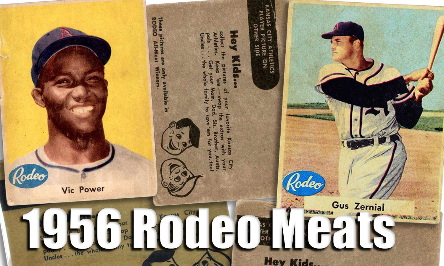 1956 Rodeo Meats Baseball Cards