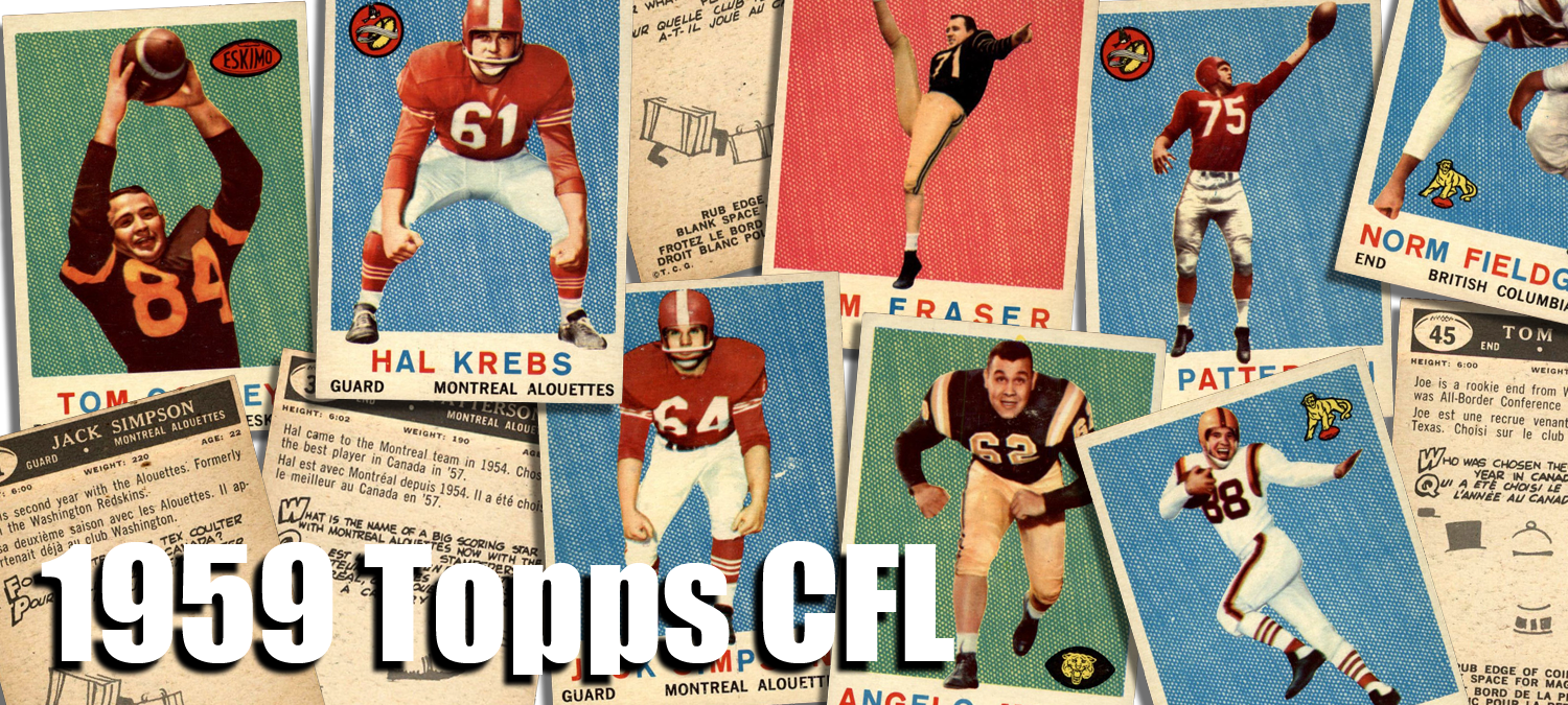 1959 Topps CFL Football Cards