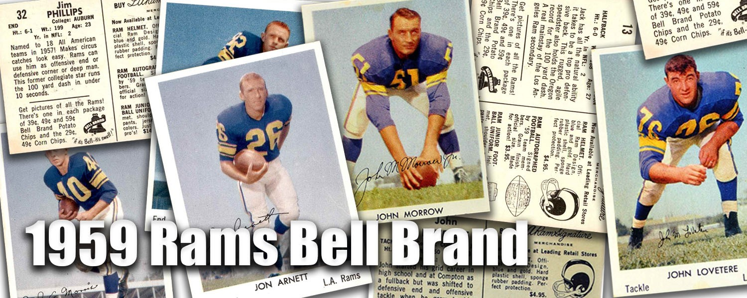 1959 Bell Brand Rams Football Cards