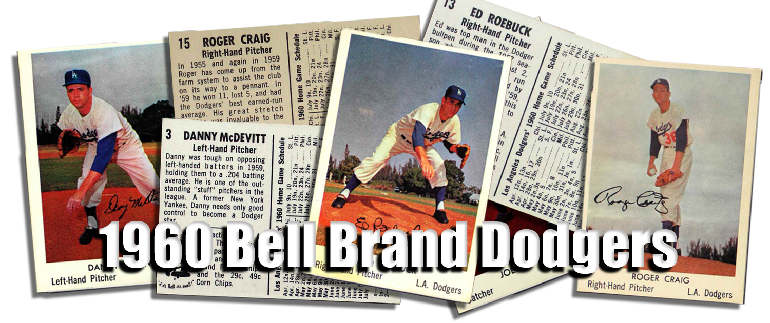 1960 Bell Brand Dodgers Baseball Cards