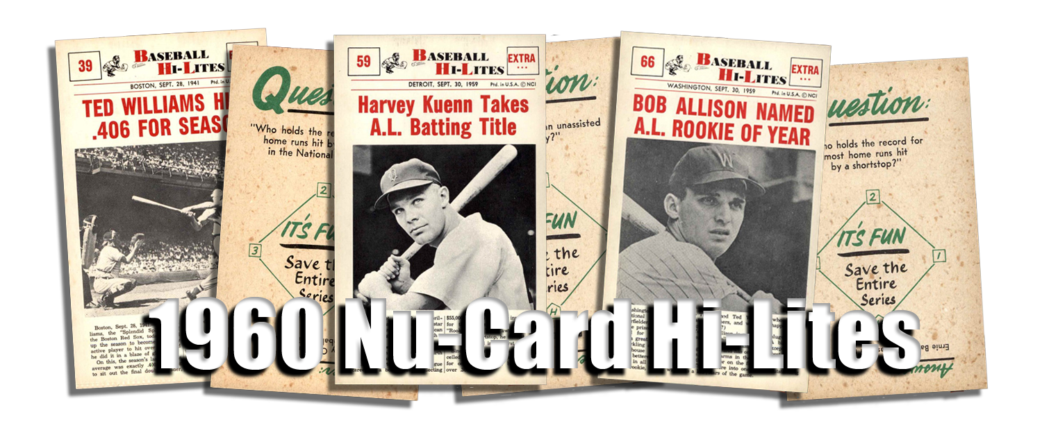 1960 Nu-Card Baseball Hi-Lites Cards